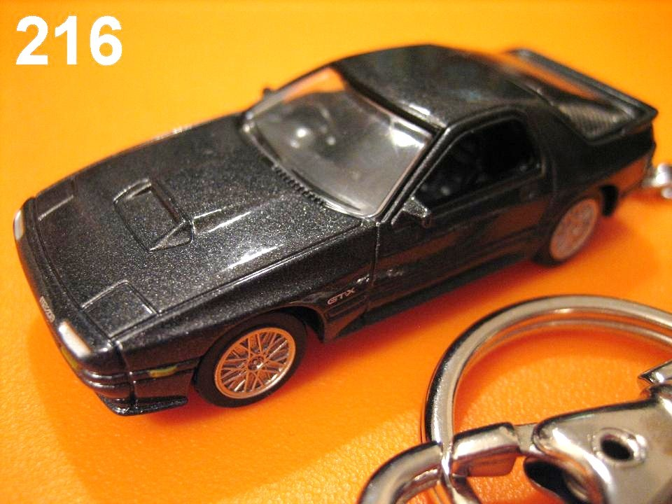 Mazda Savanna RX-7 FC3S '85~ (Metallic Black) Die-cast Key Chain